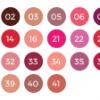 escala de cores do batom hd special line zanphy