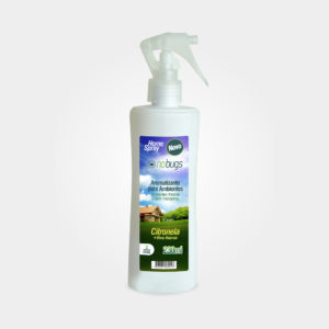 embalagem do aromatizante nobugs spray 230ml
